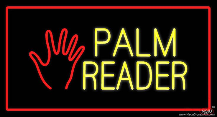 Palm Reader Logo Red Rectangle Real Neon Glass Tube Neon Sign,Affordable and durable,Made in USA,if you want to get it ,please click the visit button or go to my website,you can get everything neon from us. based in CA USA, free shipping and 1 year warranty , 24/7 service