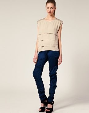 These trousers are genius. The Only Son Contour Trousers with a ruched, stacked design. £210Sons Contouring,  Blue Jeans, Contouring Trousers,  Denim, Stacked Design
