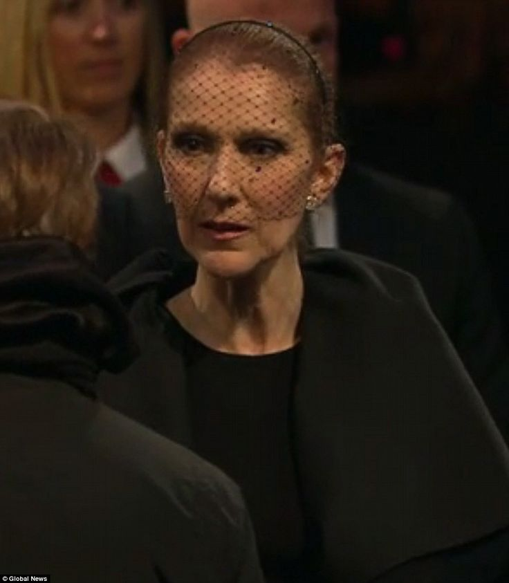 Mourning:Celine Dion joined fans of René Angélil's as they paid their final respects during a visitation on Thursday at Notre-Dame Basilica in Old Montreal