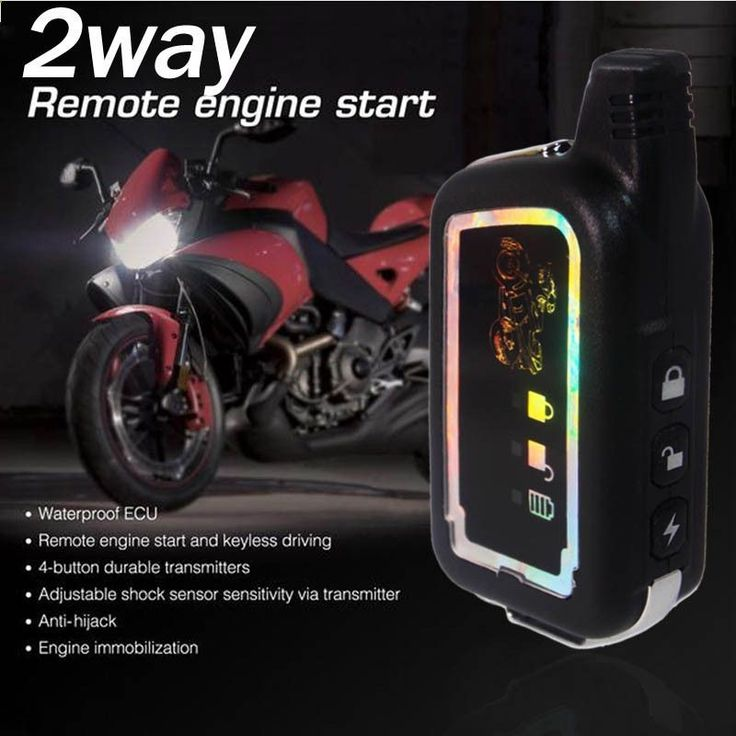 2 Two Way Alarm Universal 12V Motorcycle Scooter Bike Security Alarm System Immobiliser Remote Control Alarm Moto Engine Start - Mountain Bikes For Sale