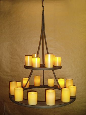 20 best themroc candle chandelier images on pinterest lmpara image result for real wax candles chandelier aloadofball Gallery