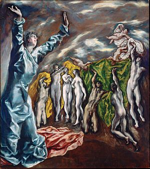Opening of the Fifth Seal by El Greco 1608-1614