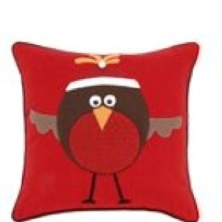 Christmas Robin cushion