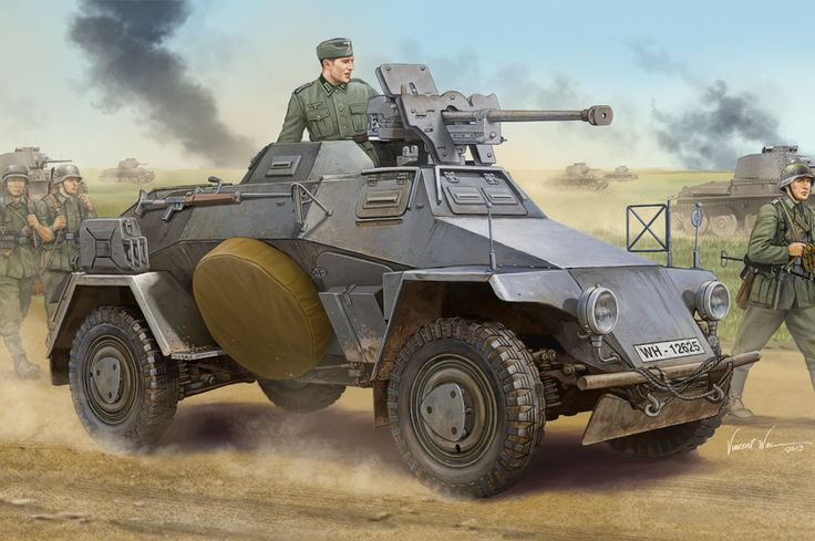 Sdkfz 221 armed with a Panzerbuchse 21