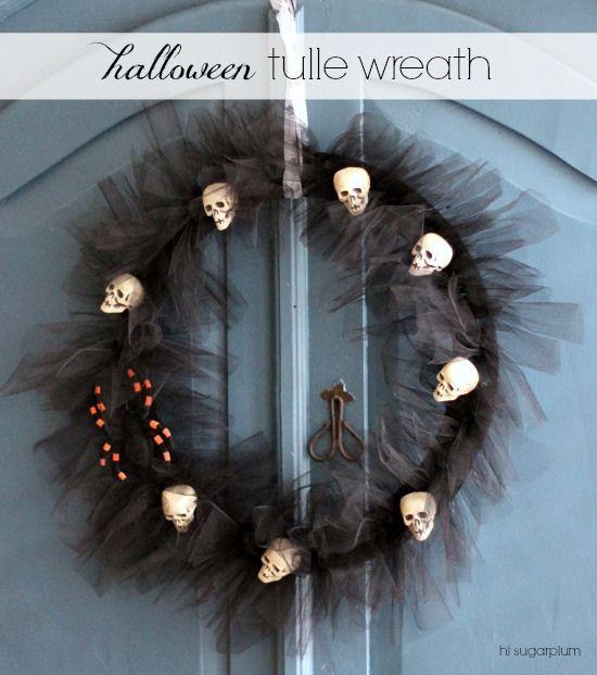 {Halloween} Tulle Wreath