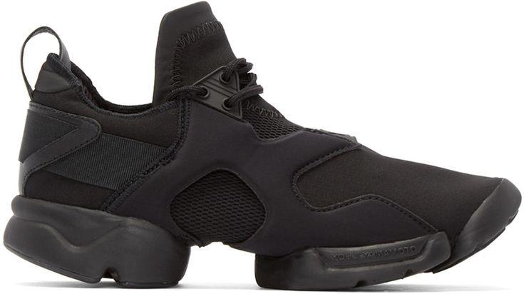 Y-3 Black Neoprene Konha Sneakers