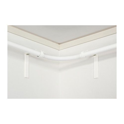 HUGAD Curtain rod corner connector - white - IKEA ~ for screened porch: Angles Window Covers, Bay Windows, Window Treats, Bays Window