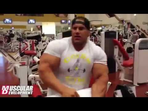 Jay Cutler Shoulders and arms workout
