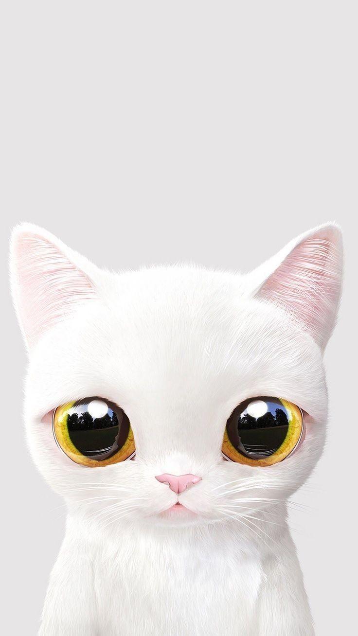 Epingle Par Lauren Gomez Sur Gatineos Illustration De Chat Fond D Ecran Chat Chatons Blancs