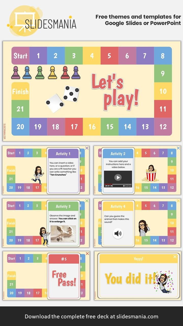 Digital Board Game An Interactive Template For Google Slides Interactive Classroom Digital Learning Classroom Online Learning Games