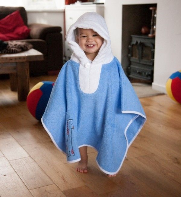 Hooded Bath Poncho Dinosaur