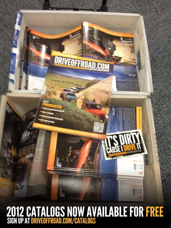 FREE Jeep parts catalogs and FREE STICKERS!    http://driveoffroad.com/catalogs