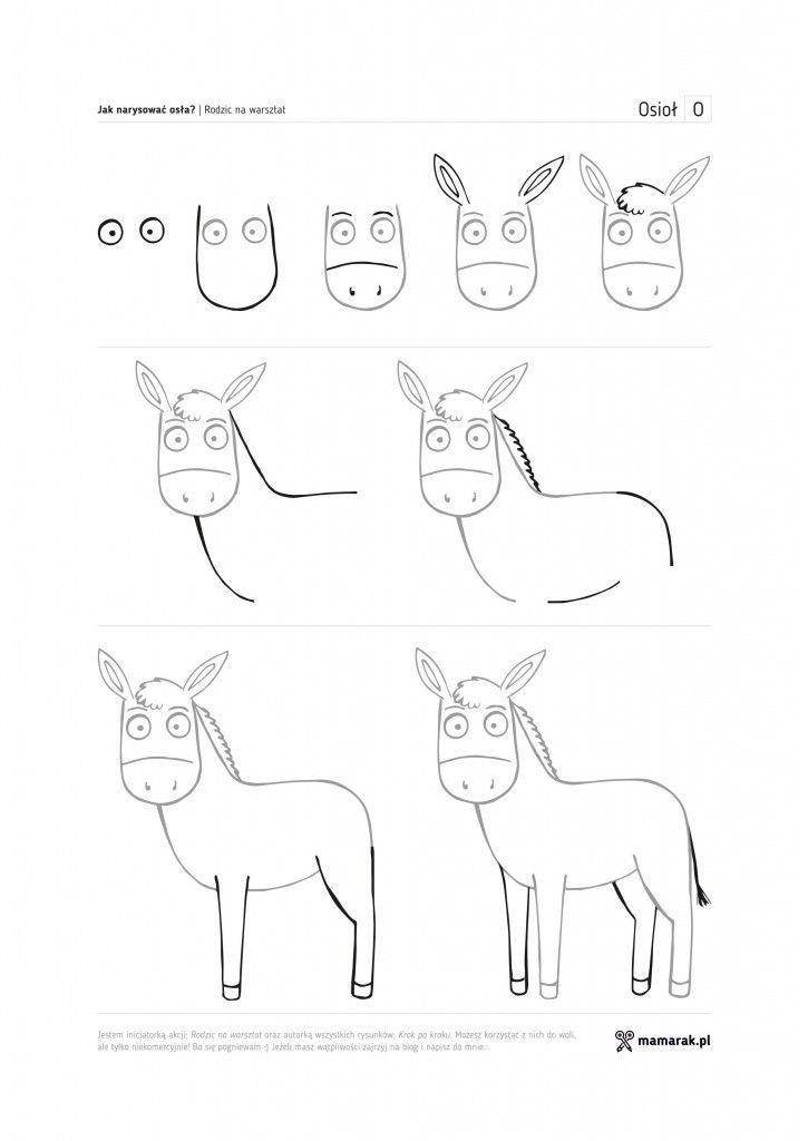 jak narysować osła?