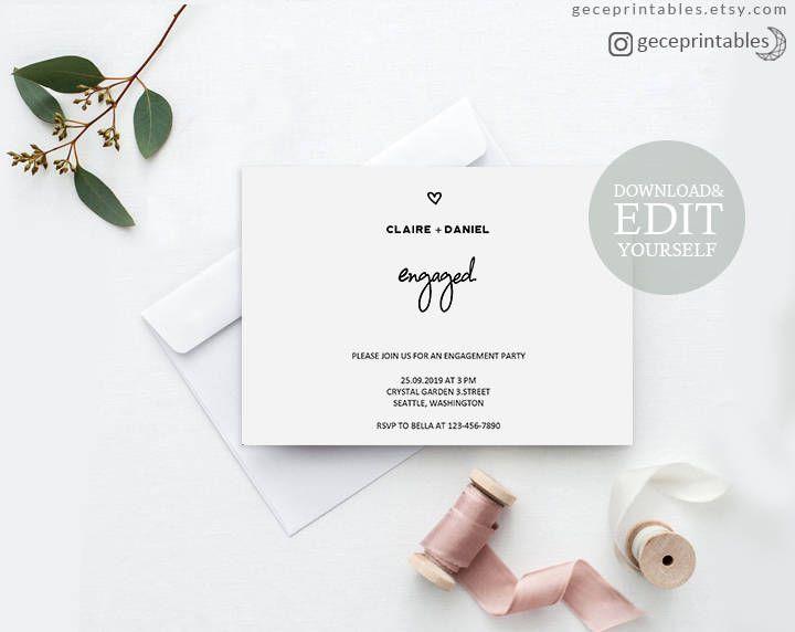 Best 25+ Engagement invitation template ideas on Pinterest - engagement party templates