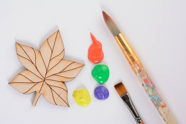 autumn in DaWanda Fridge Magnets – Blank magnet in the shape of leaf – a unique product by SkySwallow on DaWanda