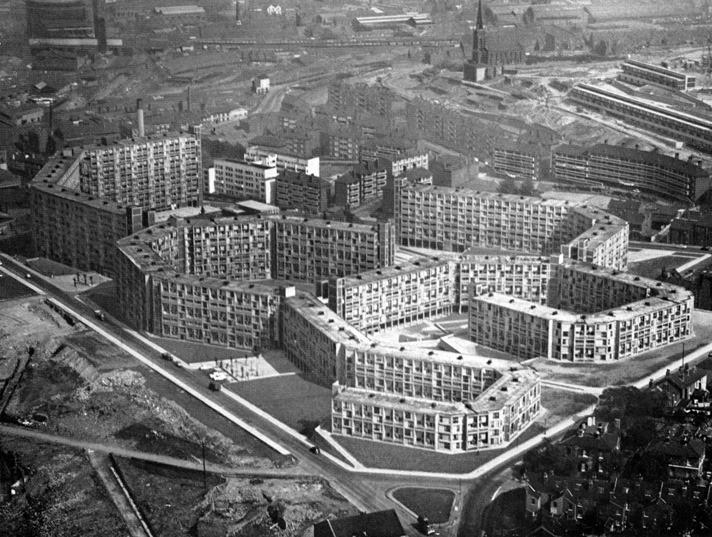 Park Hill Estate, Sheffield; brutalism