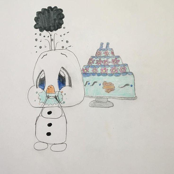 OLAFFFFFFF!!! Who's your favorite Disney character? • • • • • • • • • • • • • • • • #art #disney #olaf #frozen #cake #oops #cute #tsumtsum #blue #arendelle #elsa #anna #birthday #purple #white #snow http://misstagram.com/ipost/1553163982980824619/?code=BWN8mnbgL4r
