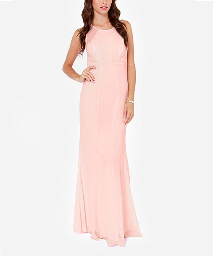 Pink Empire-Waist Maxi Dress by HaoYouDuo #zulily #zulilyfinds