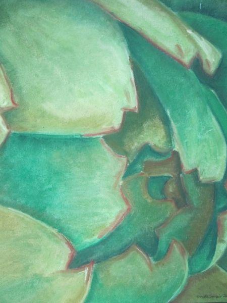 DESSIN légumes Aquarelle  - artichaut