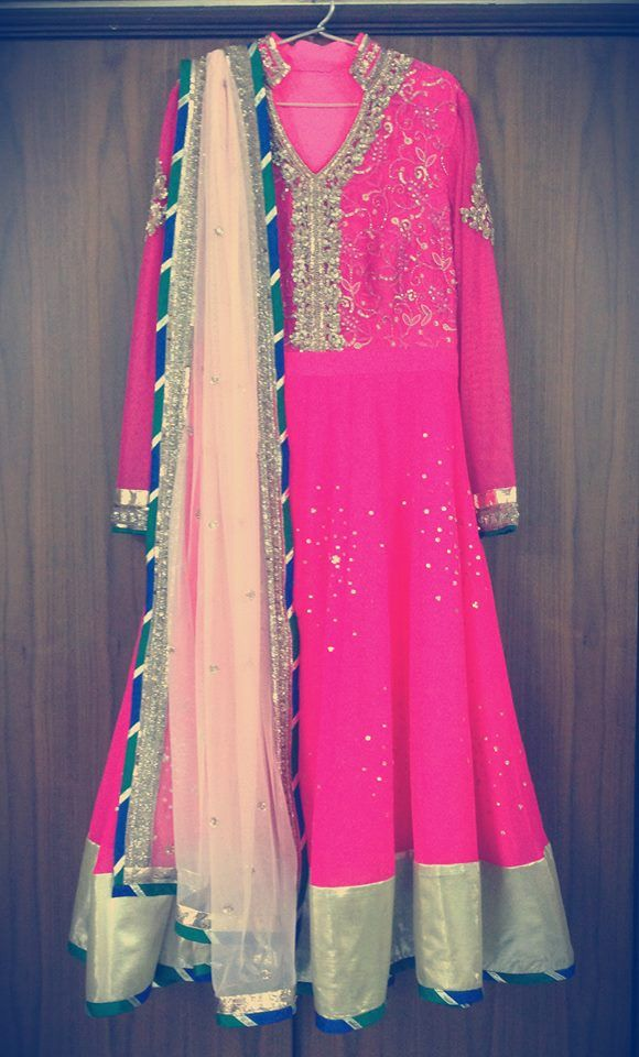 Complete your wardrobe with the perfect pink anarkali <3