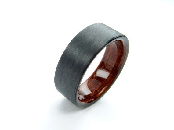 Bent Wood and Carbon Fiber Ring -- Rosewood interior
