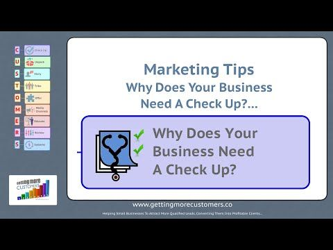 Small Business Marketing Tips - Why Does Your Business Need A Check Up