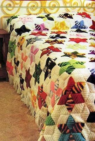 """Amazing crochet """"quilt"""".  This is fun to make and gorgeous when finished.                                                                                                                                                     More"""