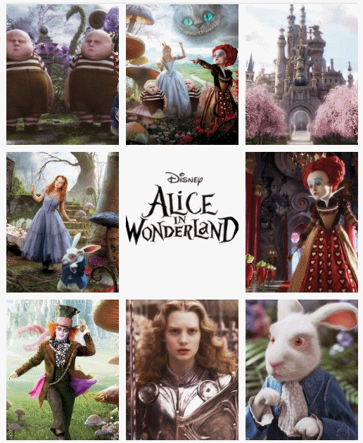 Alice in Wonderland + Tim Burton
