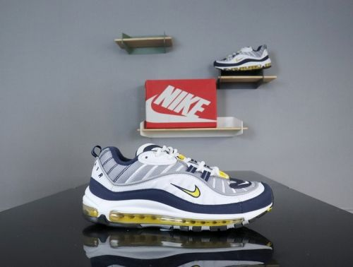 9bc068b709 Nike Air Max 98 Tour Yellow Midnight Navy White 640744-105 Buy New Sneakers  Trainers