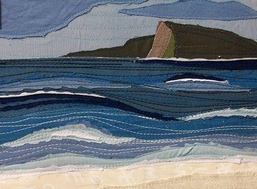 textiles art seascape