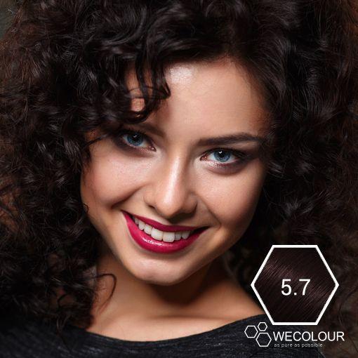 Mooie chocolade bruine kleur, erg mooi tijdens de wintermaanden! #haarverf #chocoladebruin #5.7 #haarverfzonderammonia