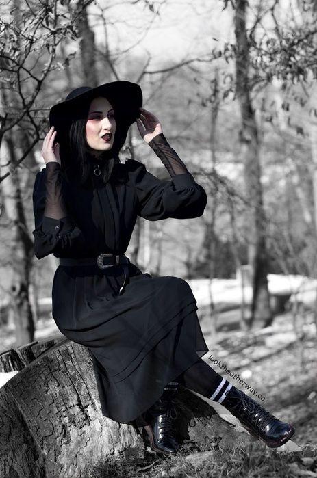 http://looktheotherway.co/pleasure-pathless-woods/ #ShopStyle #ssCollective #MyShopStyle #ootd #mylook #fallfashion #ShopStyleFestival #lookoftheday #currentlywearing #wearitloveit #getthelook #todaysdetails #shopthelook #winterfashion #witch #allblack #mididress