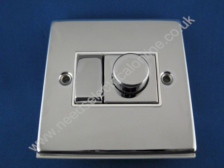 Needs Electrical Online Click Deco 1 Gang Plate 2 Way Ingot Switch & Varilight V Pro LED Dimmer Switch Polished Chrome White Inserts