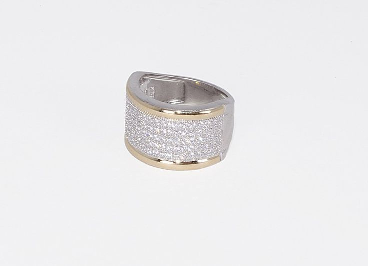 Coleccion Oro y Plaza : Anillo en plata y Oro con zircon y liso alrededor