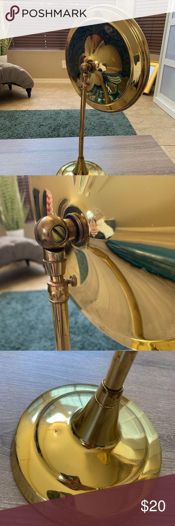 Vintage Brass Adjustable Magnifying Mirror Vintage brass