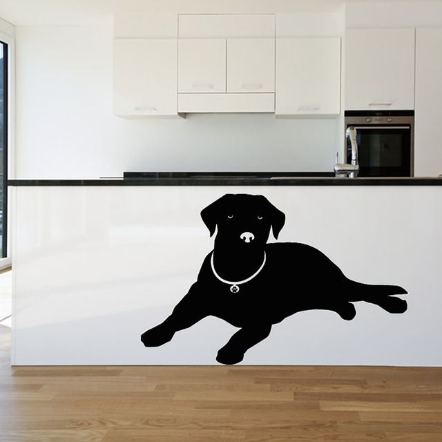 Fair price DCTOP Europe Home Decor Lying Labrador Wall Sticker Black Animal Silhouette Sticker Living Room Puppy Dog Wall Decal just only $3.56 - 7.65 with free shipping worldwide  #wallstickers Plese click on picture to see our special price for you