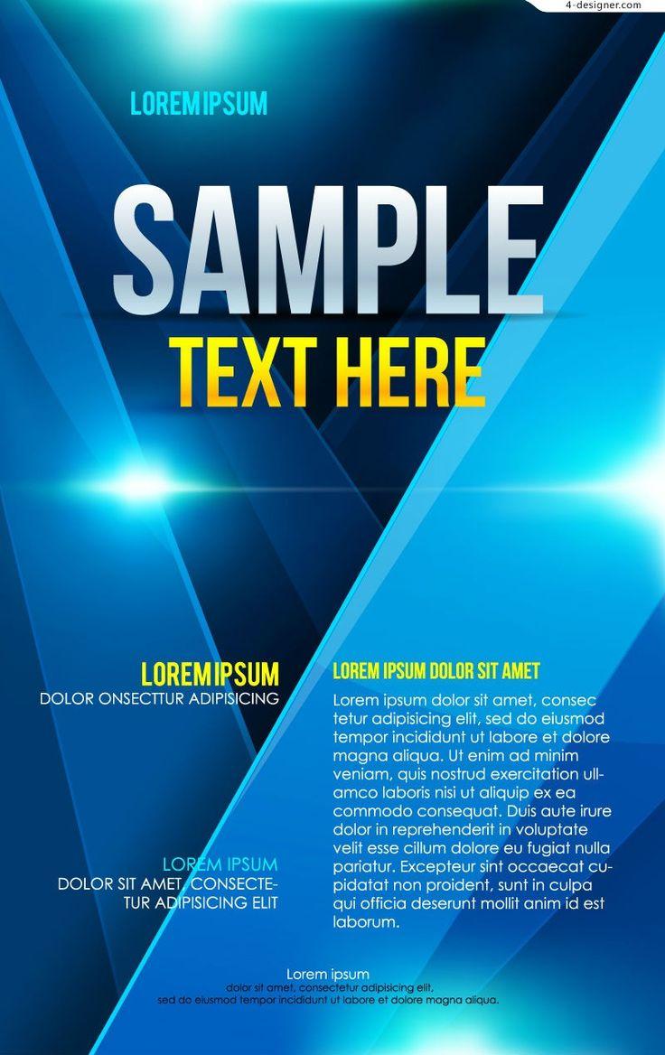 Poster design business - Vector Material Of Blue Business Poster 55085 Jpg 800 1270 Fall Case Pinterest