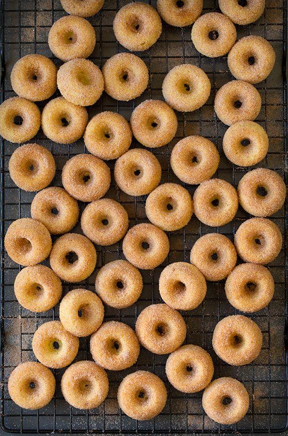Baked Cinnamon Sugar Mini Donuts   Cooking Classy