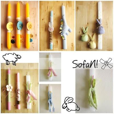 ! ♥ SofaN handmade: Νέες πασχαλινές λαμπάδες - η συνέχεια!
