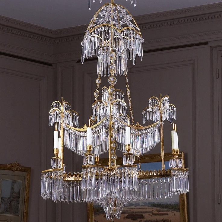 Eight-light chandelier by Berlin, Werner & Mieth Manufacture.Sensation Chandeliers, Eight Lights Chandeliers, Crystals Chandeliers