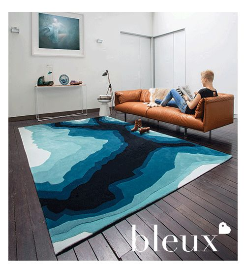 Bleux's Mineral Rug from their 2014 'neighbourhood' Designer Rugs Collection.