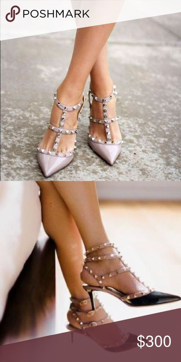 ISO: Authentic Valentino Rockstuds **NOT FOR SALE** IN SEARCH OF (ISO): I am looking to buy an AUTHENTIC pair of Valentino Rockstud pumps (the low heel) in a size 41 or 41.5 in the mauve or black. Please tag your closet if you are selling-- my budget is $300-350. Thank you! Valentino Shoes Heels