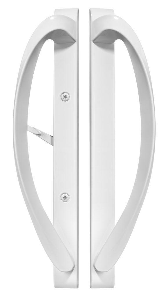 Rockwell Modena Contemporary Sliding Patio Door Handle In White Sliding Door Handles Door Handles Sliding Patio Doors