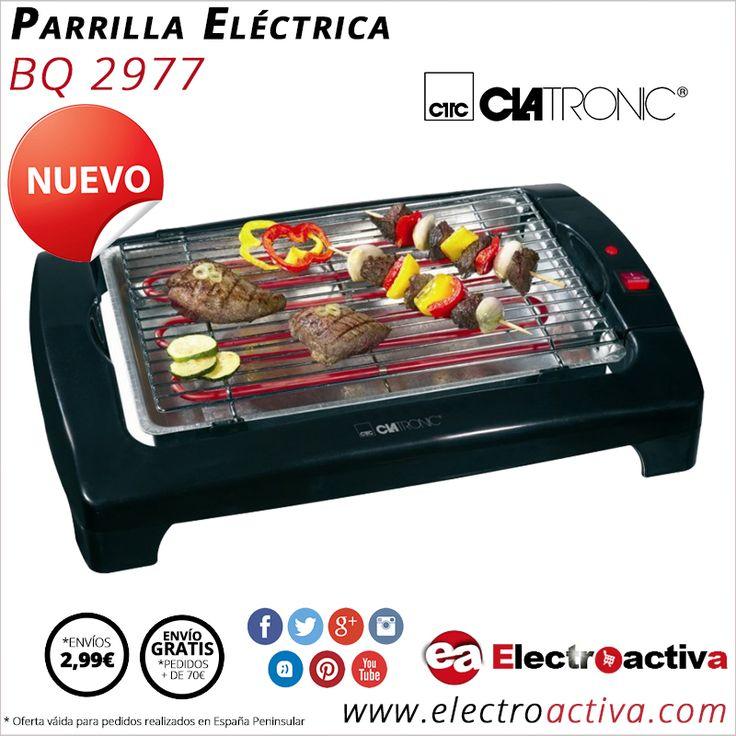 ¡Llega el tiempo de barbacoas con familiares y amigos! Parrila eléctrica CLATRONIC BQ 2977 http://www.electroactiva.com/clatronic-parrilla-electrica-bq-2977.html #Elmejorprecio #Barbacoa #Parrilla #Electrodomesticos #PymesUnidas