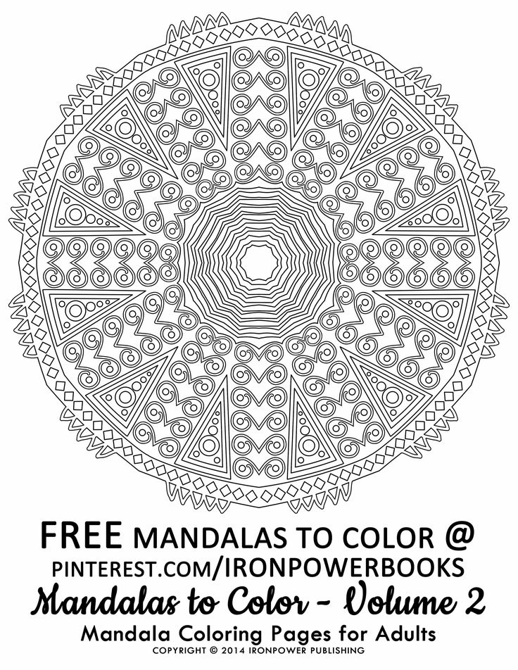 FREE Advanced Mandala Coloring Pages From Mandalas To Color Volume 2 Available At