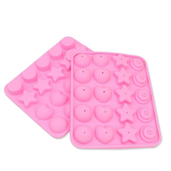 20 Holes Pointed Star Lollipop Mold Silicone Chocolate by HNGFan