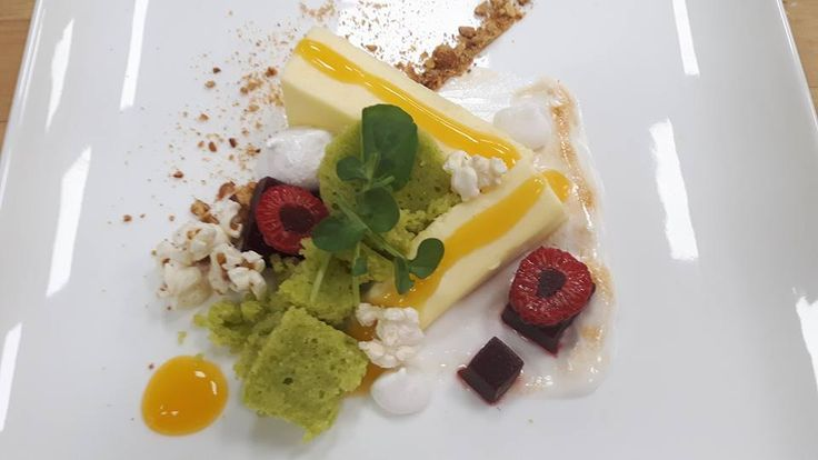 [Pastry Student] Dessert Made With Vegetables: Pea Cake Corn Bavarois Beet Jelly Chickpea Meringues #kitchenconfidential #SXSW #sunshine #summer #streetfood #NoReservations #culinary #kitchen #home