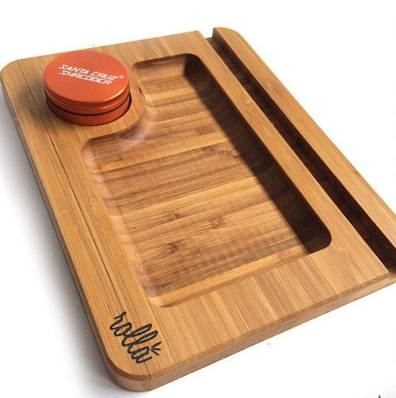 Media Sled  Rolling Tray  with ORANGE Shredder by RollaBoards