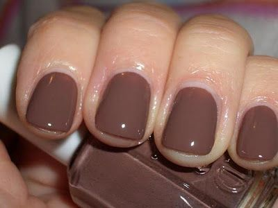 Hot Cocoa by Essie. Cute light brown for fall season.