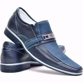 Sapato Social Masculino Envernizado Blue Preto Brilhante - R$ 149,90
